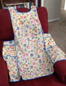 A feedsack apron